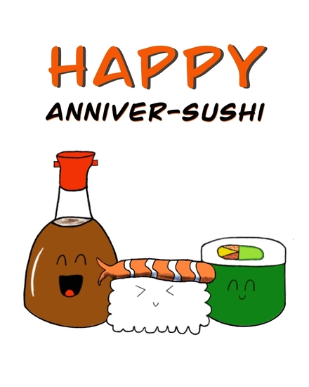 anniversary card happy anniver-sushi