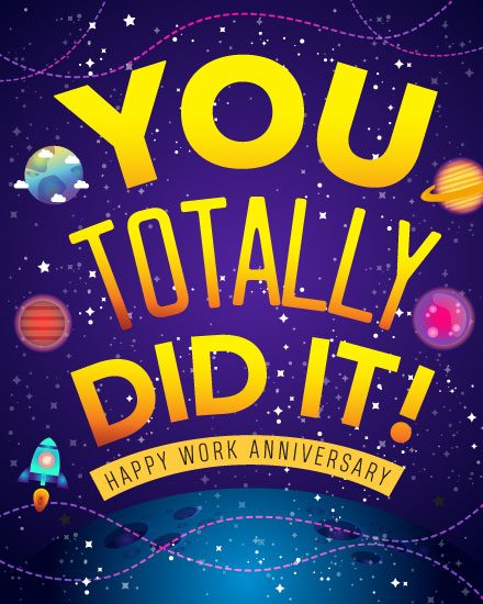 anniversary card you totally did it in space
