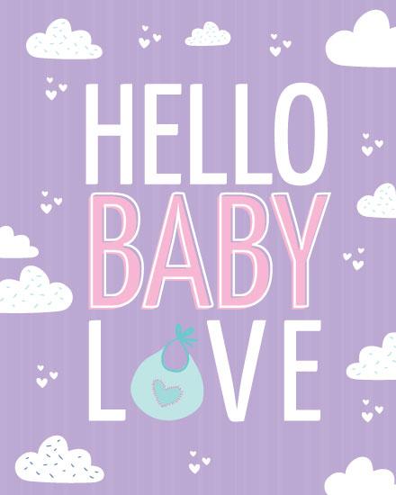 baby card hello baby love
