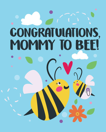 baby card mommy to be