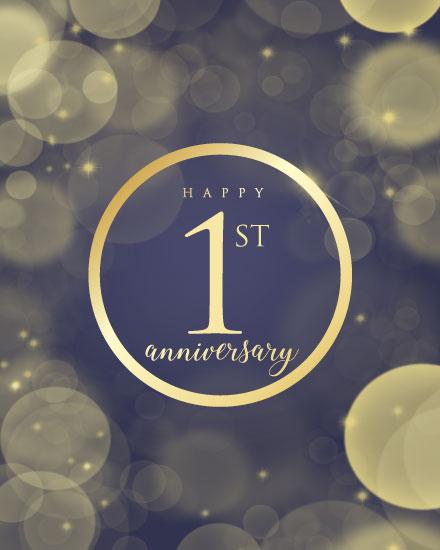 congratulations card 1st anniversary