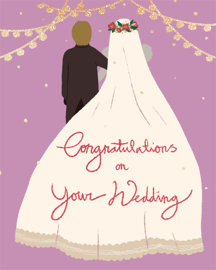 wedding card bride groom