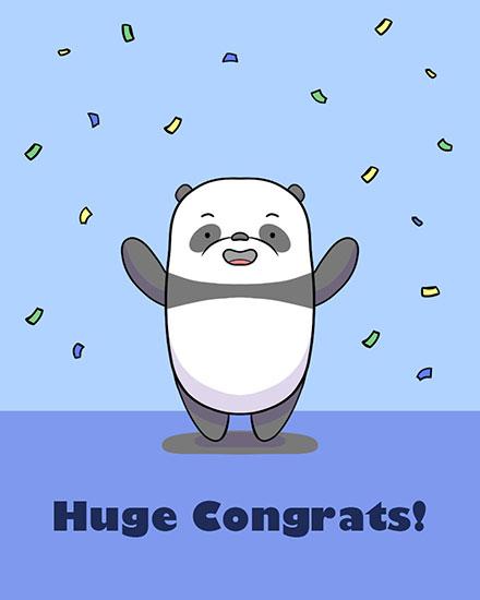 congratulations card huge congrats panda