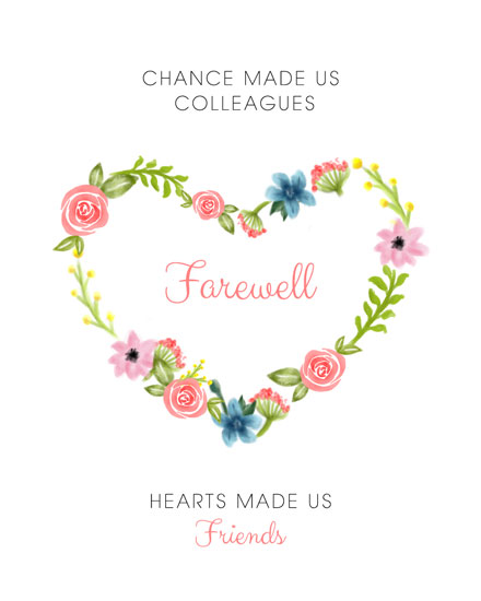 farewell card chance and hearts