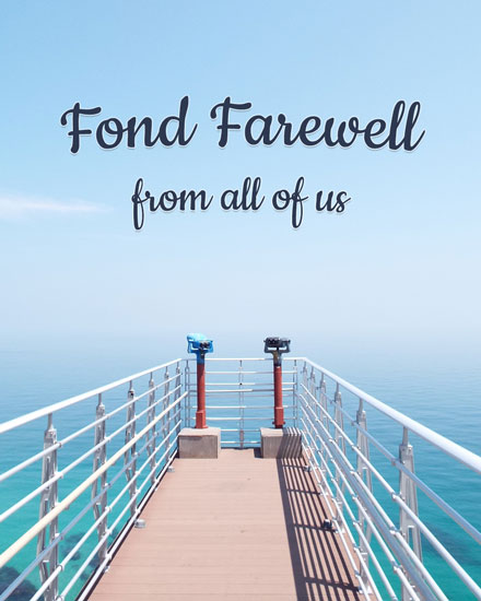 farewell card sea dock sightings
