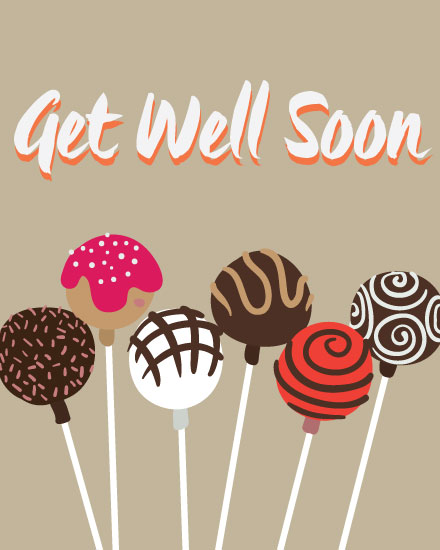 get well soon card cake pops variety
