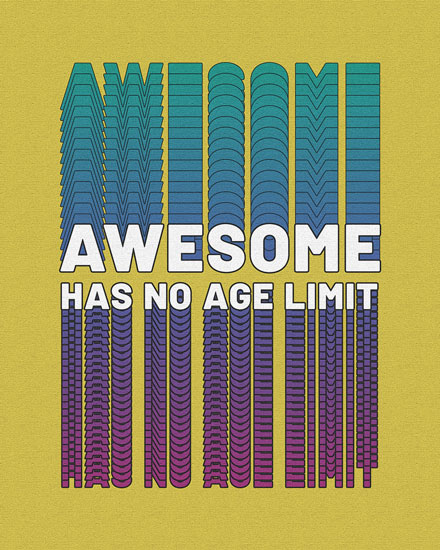 happy birthday card awesome has no age limit