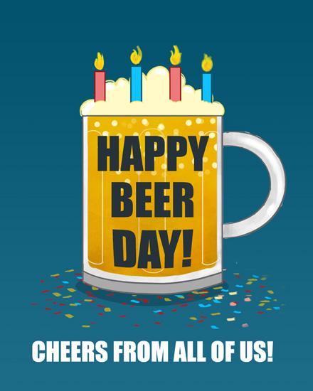 happy birthday beerthday beer mug