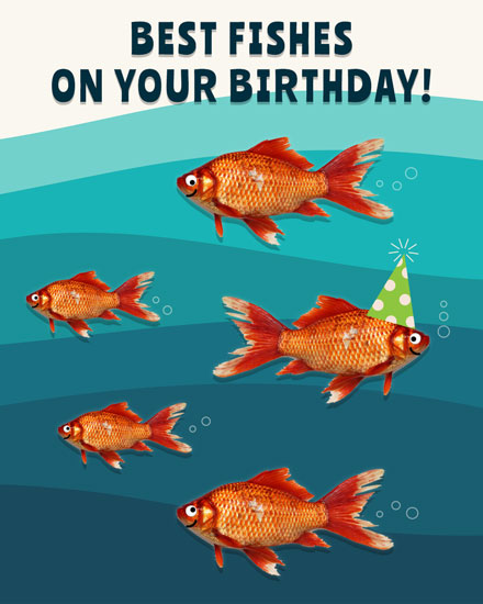 happy birthday card best fishes