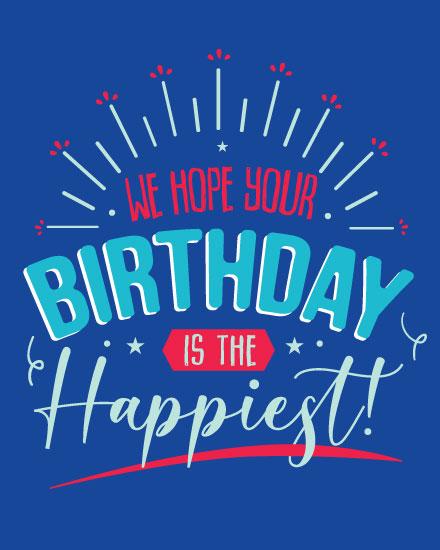 happy birthday card happiest