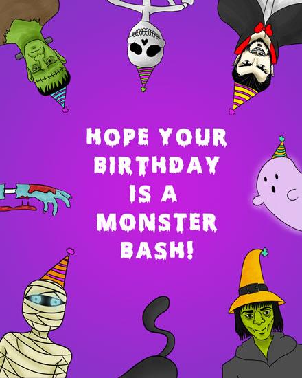happy birthday monster bash