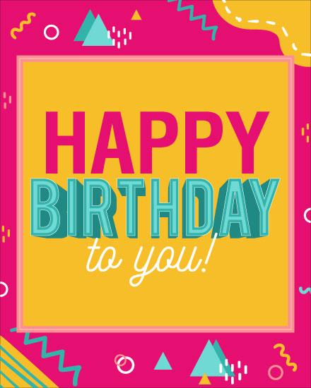 happy birthday card bright greetings