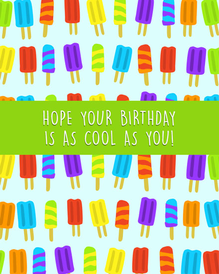 happy birthday card cool popsicles