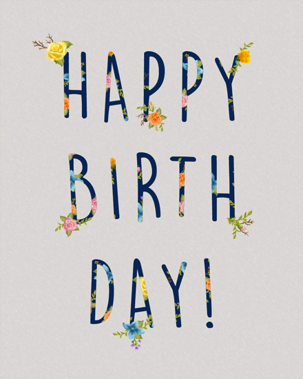 happy birthday card floral birthday