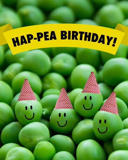 happy birthday card hap pea peas