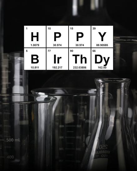 happy birthday card periodic table greeting