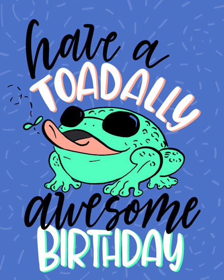 happy birthday card toadally awesome birthday pun