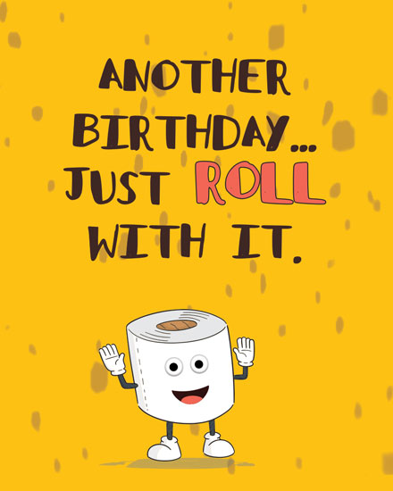 happy birthday card toilet paper roll
