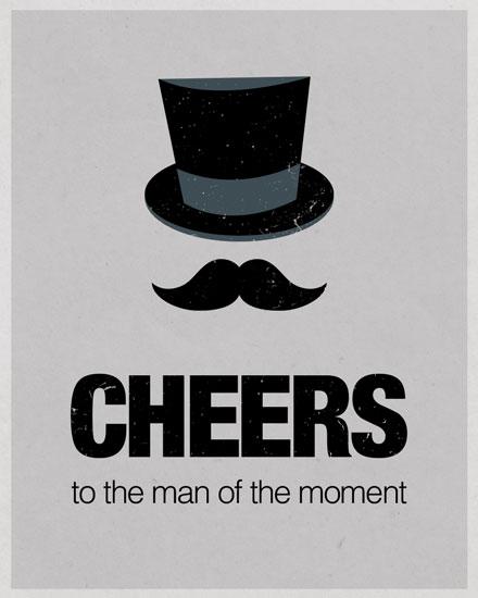 happy birthday card top hat gentleman