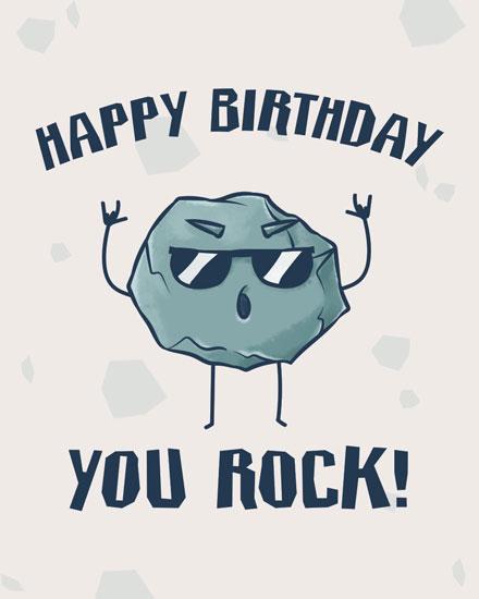 happy birthday card you rock