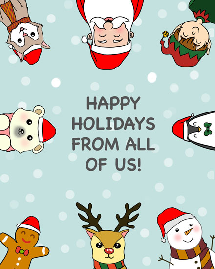 holiday card christmas characters