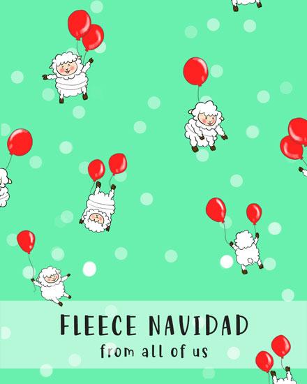 holiday card fleece navidad sheep