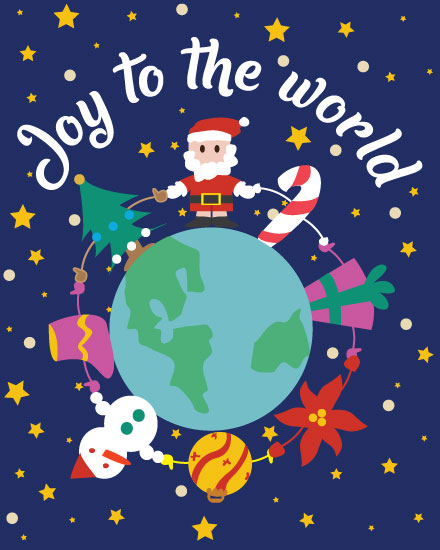 holiday card joy to the world