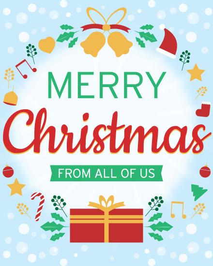 christmas card red gift box