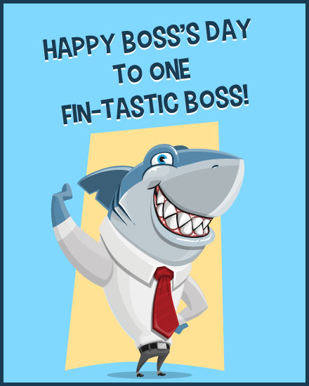 boss day card fintastic shark boss
