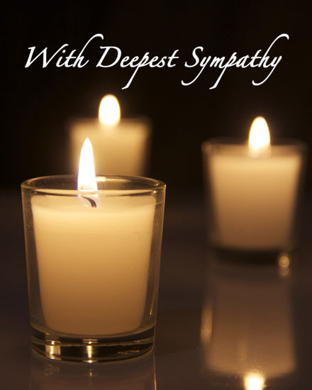 sympathy card candles photo