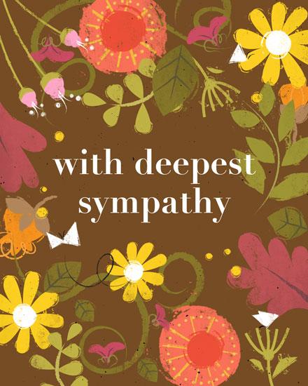 sympathy card flowers