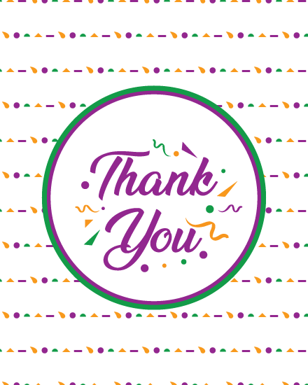 thank you card geometric shapes lines