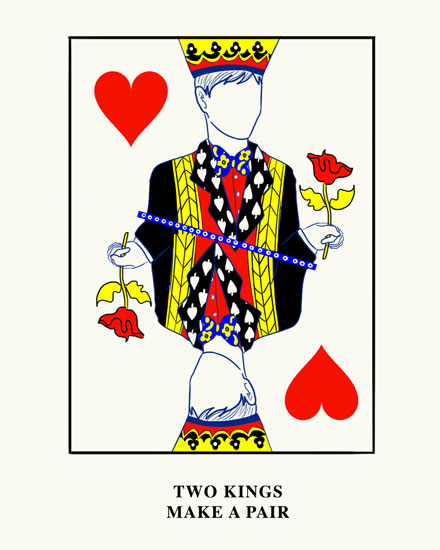 wedding card pair of kings