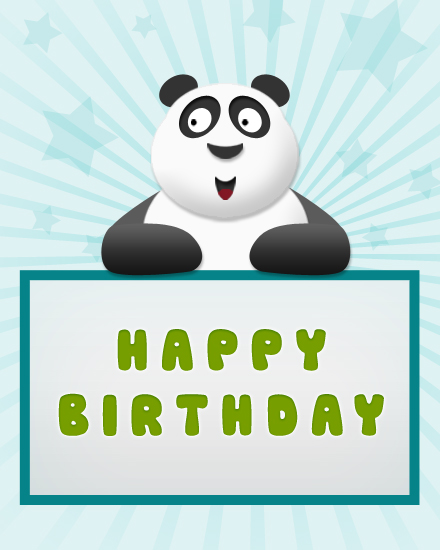 happy birthday card panda