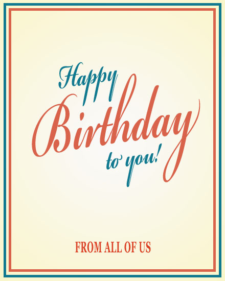 happy birthday card script text