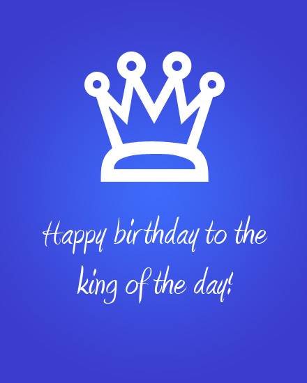 happy birthday card king crown