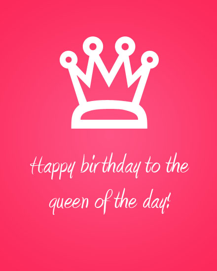 happy birthday card queen crown