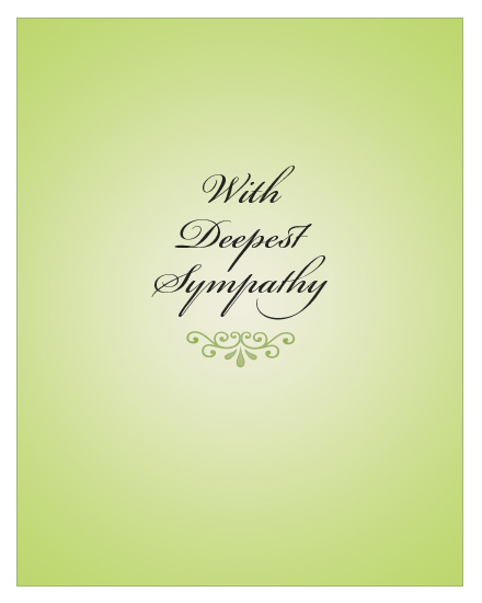 sympathy card sage color